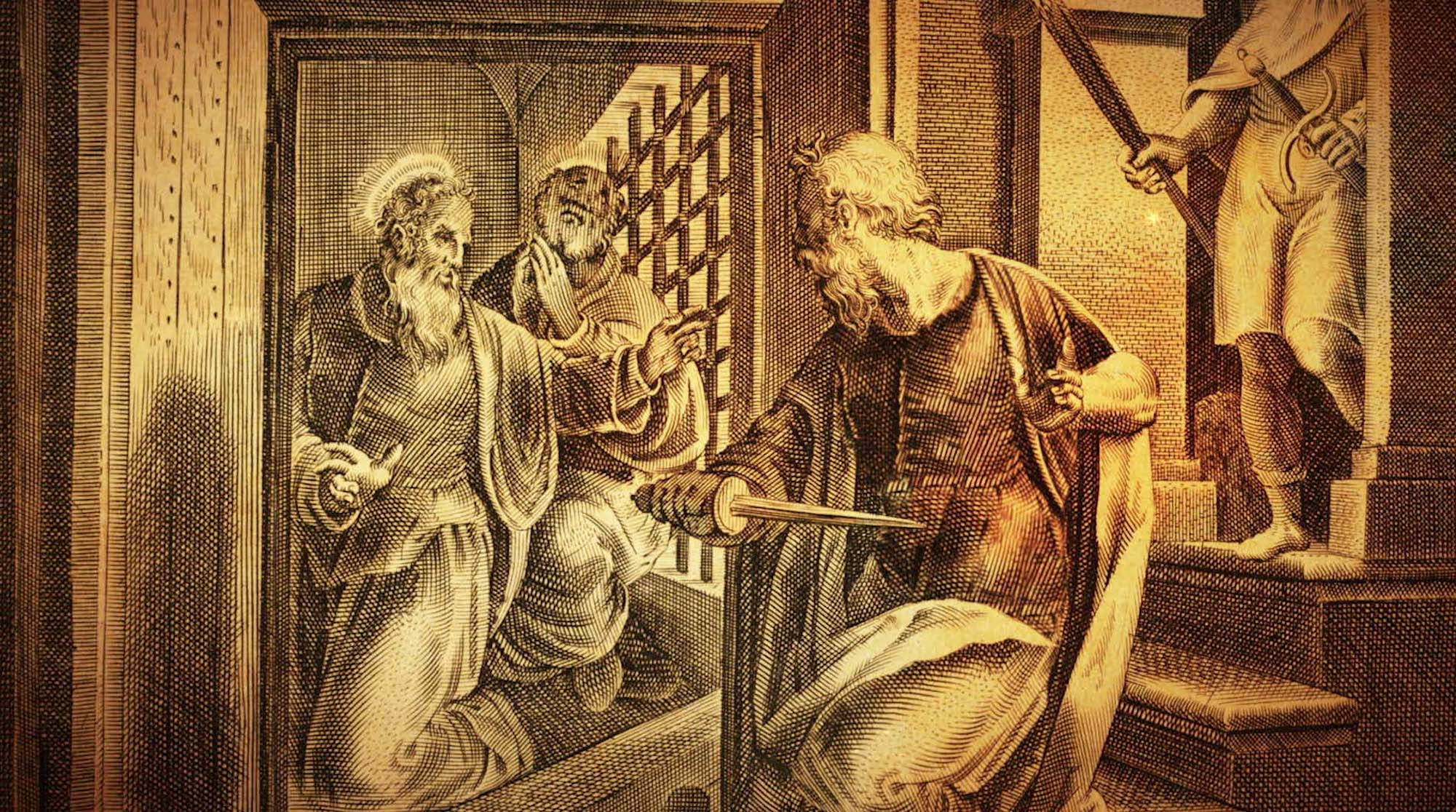 Paul And Silas In Prison At Philippi