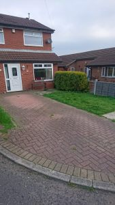 Before photo of driveway to be completed in Plaspave Premia in Morley,Leeds.