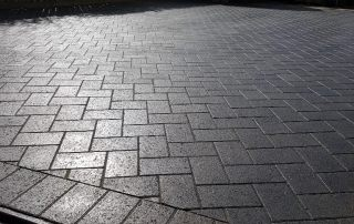 New Plaspave Premia 60mm Block paving driveway area completed in Leeds.