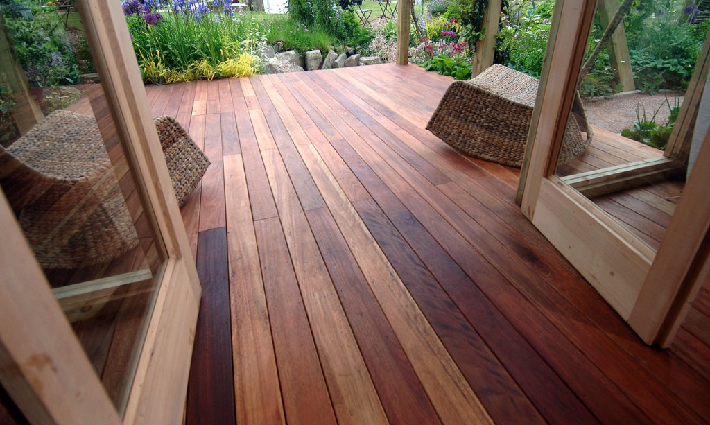 decking extending into your garden