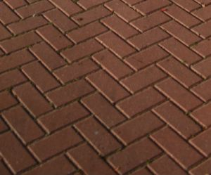 Block paving herringbone pattern close up