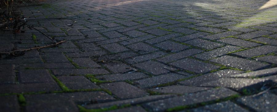 sunken bock paving
