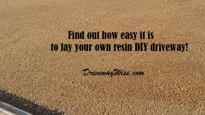 Resin Driveways Diy Make Sure You Choose The Right Product