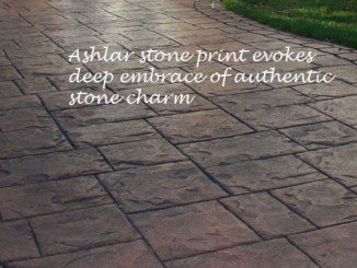 imprinted driveways ashlar stone pattern