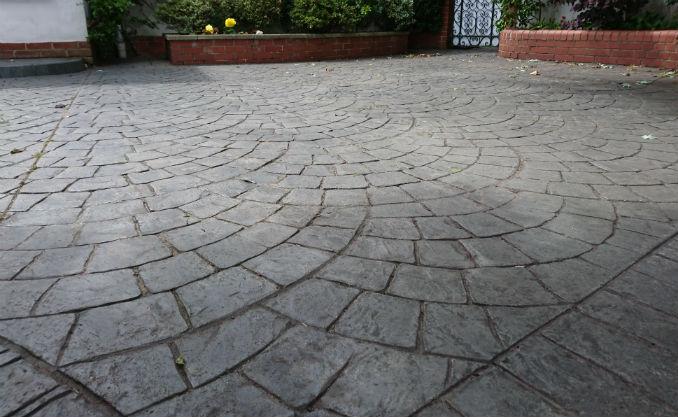 maintenance pattern imprinted concrete