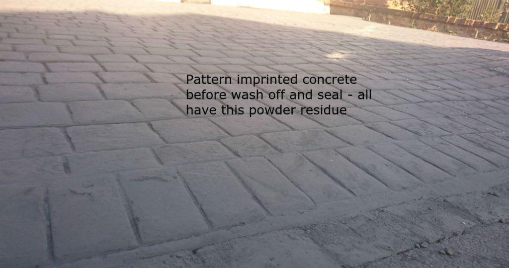 pattern imprinted concrete release powder