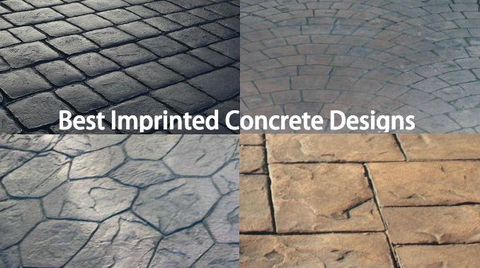 best imprinted concrete paving design ideas driveway wise