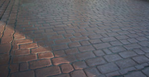 cobble design imprinted concrete