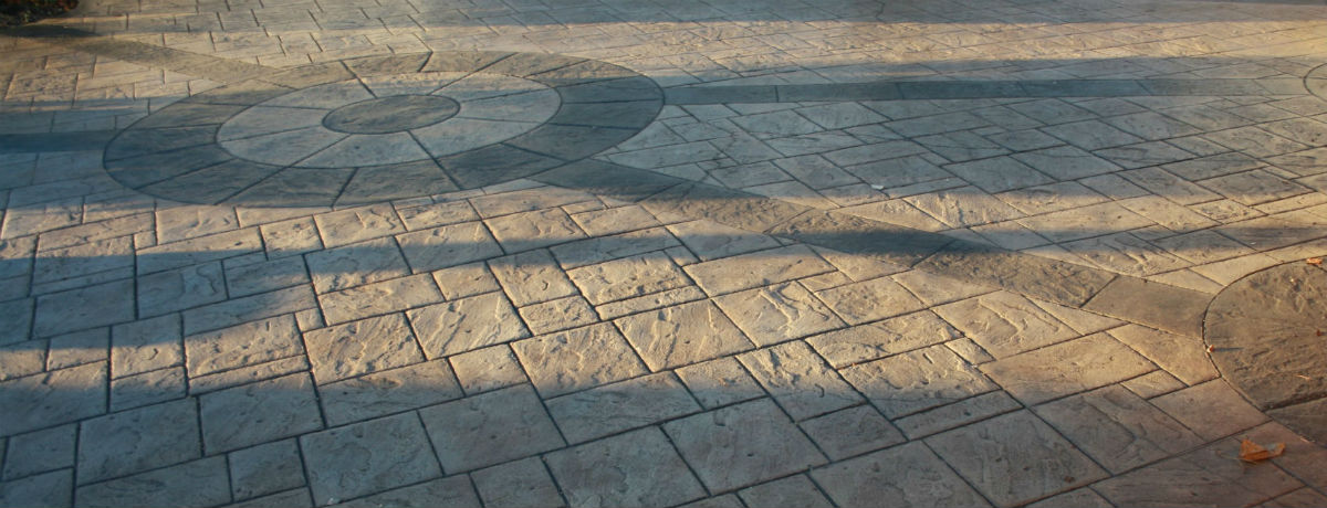 Imprinted concrete feature