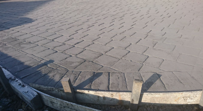 Imprinted concrete release powder