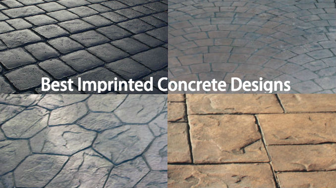 best imprinted concrete design
