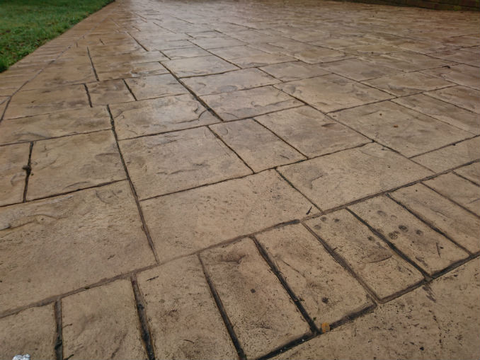 pattern imprinted concrete driveways dorset