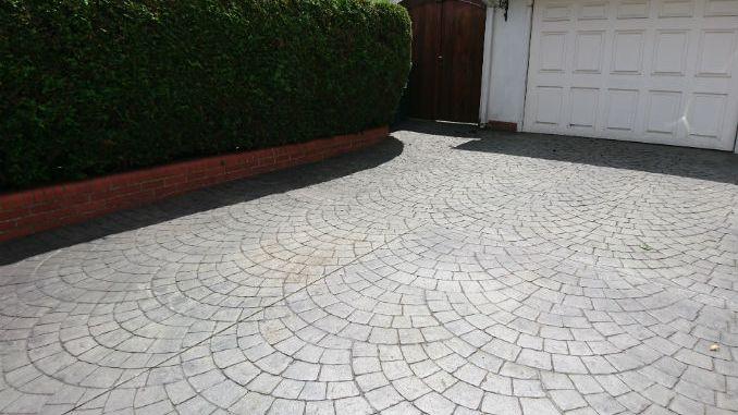 Printed Concrete Driveway >> Pattern Imprinted Concrete Driveway Faqs Installation Time What