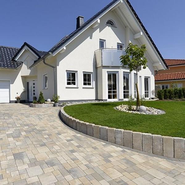 modern garden block driveway