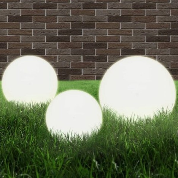 LED Bowl Lamp Set 3 Pieces Spherical