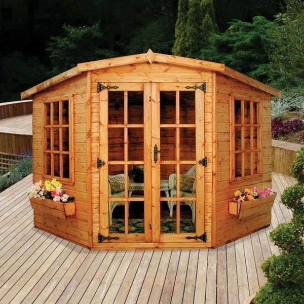 LINCOLN 6' X 6' CORNER SHIPLAP WOOD GARDEN SUMMER HOUSE