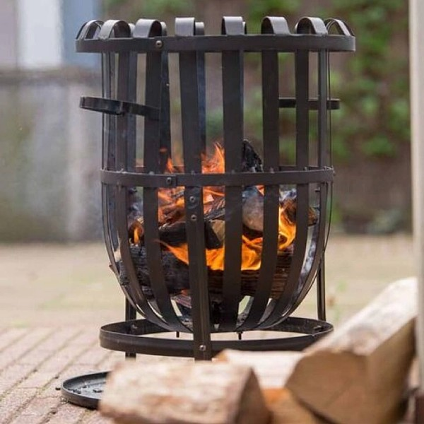 RedFire Fire Basket Dallas Black Steel