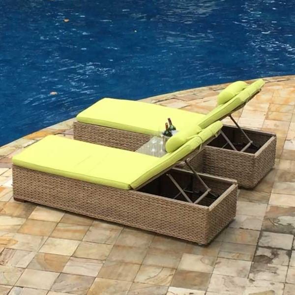 Maze Rattan Harrogate Sun Lounger Set