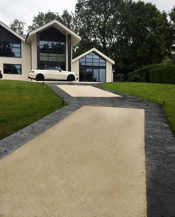 farrelly construction resin concrete driveway