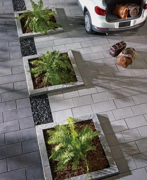 driveway edging ideas flower beds
