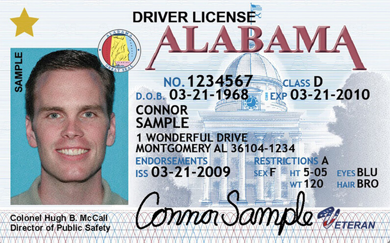 Alabama License Temporary