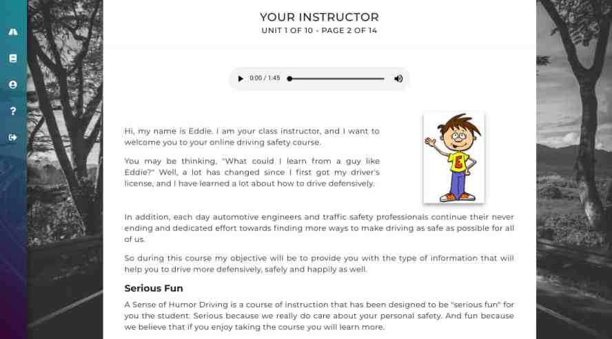 A Sense of Humor online defensive driving is new and improved