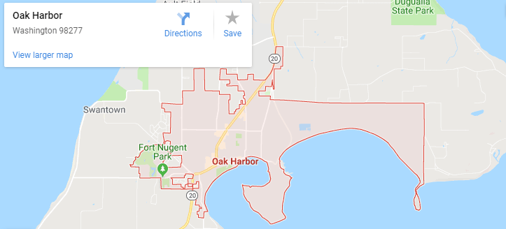 Maps of Oak Harbor, mapquest, google, yahoo, bing, driving directions