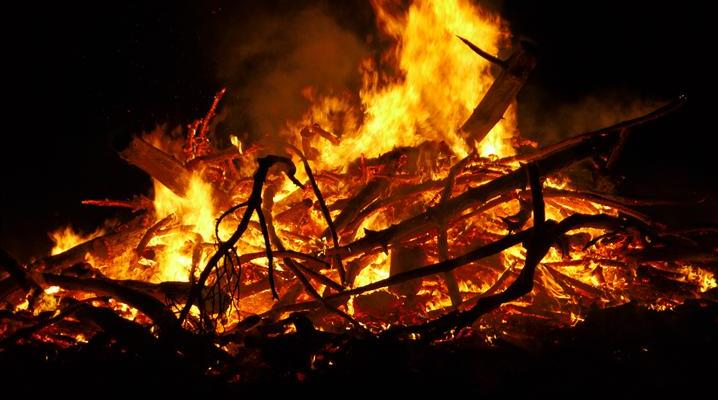 Biggest Muskie, Meet Biggest Bonfire