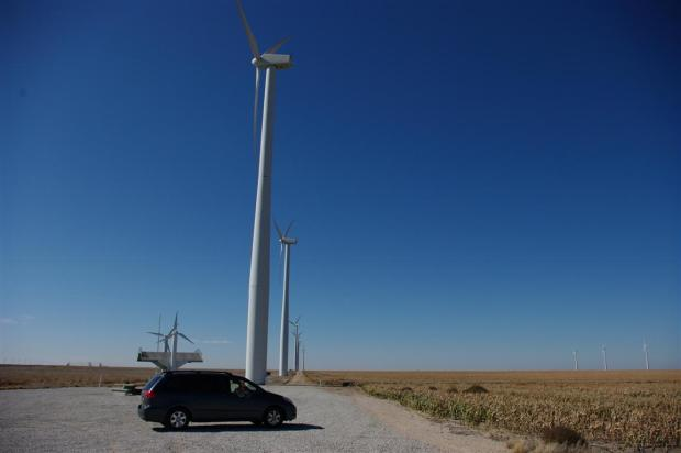 Rocky and windmills