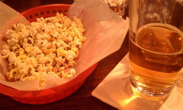 Cold beer, fresh popcorn, and attentive service make the Corkscrew Saloon the best bar in Death Valley.