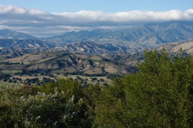 Views on Highway 154 northwest from Santa Barbara.