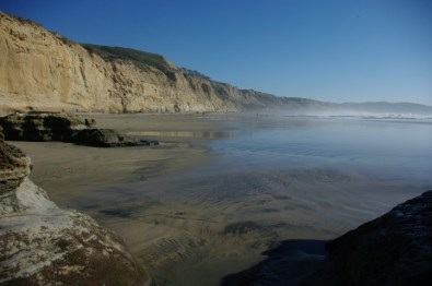 The south beach at Torrey Pines, which we later learned was the nude bathing area.