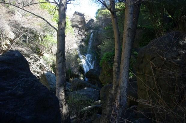 An unnamed waterfall in Salmon Creek.