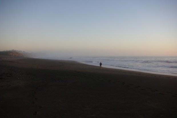 Paul on the beach at San Simeon.