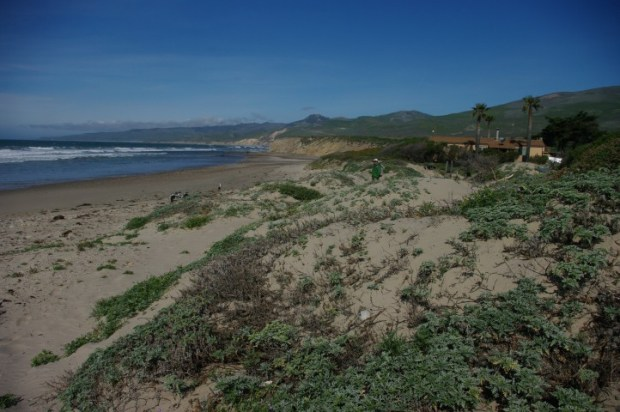 Looking north at the Jalama Beach Grill and Paul.