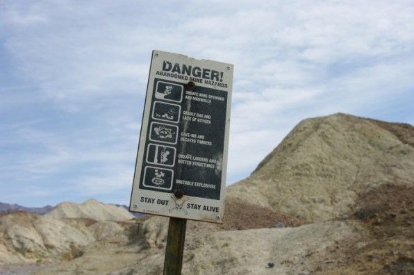 A clue that you're getting closer to the mining areas.