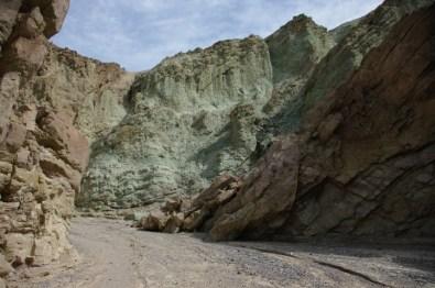 Some multicolored rock.