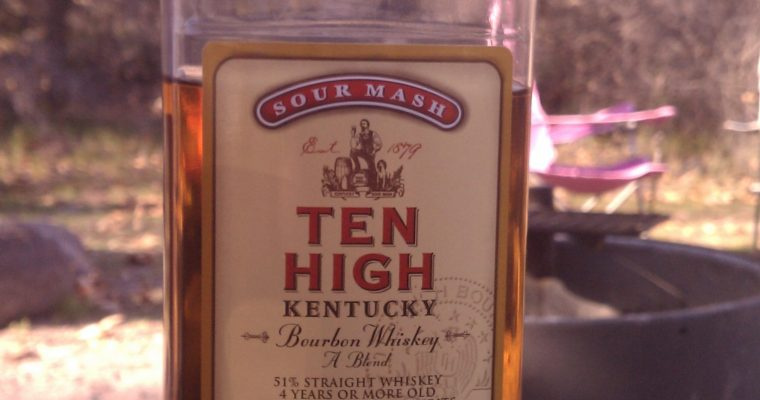 High Ten and Lime … Wait, Ten High Kentucky Bourbon Whiskey and Lime