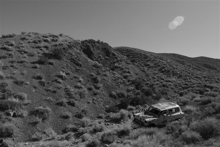 Abandoned wagon, Death Valley.