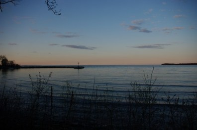 Reverse sunset from Kelleys Island.