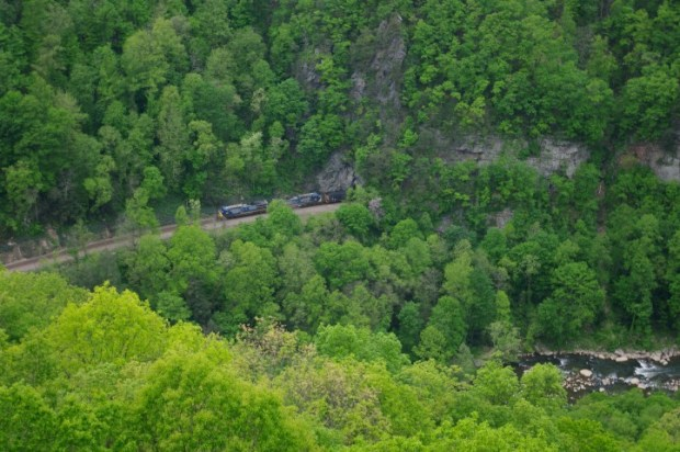 A coal train in the valley.