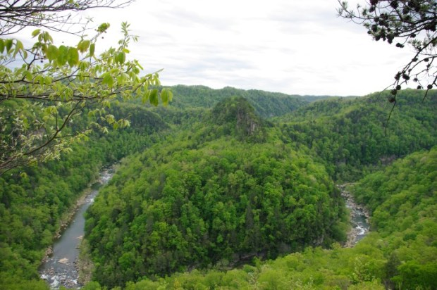 A big bend in the river.