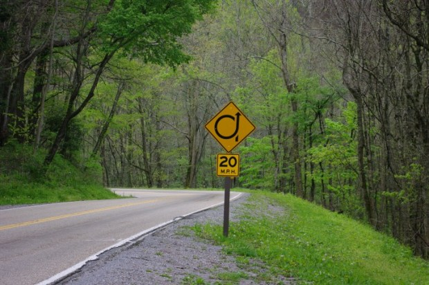 """The best road sign. The second best road sign was one that said """"Spiral."""""""