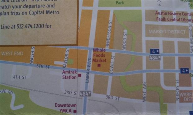 """""""Places of Interest"""" on the tourist map = train station, YMCA, grocery store. Grocery store?"""
