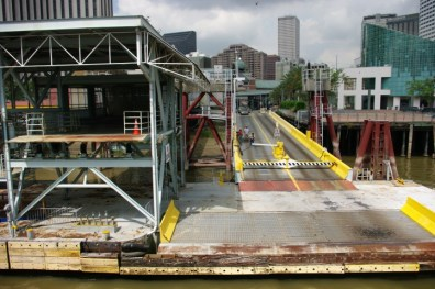 The ferry dock downtown.