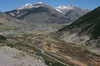 Silverton from the highway.