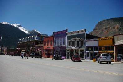 Greene Street, the paved main street.