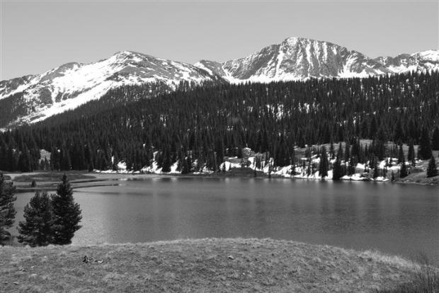 Mountain lake south of Silverton, CO.