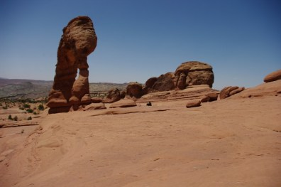 Delicate Arch looks even more delicate from the rear.