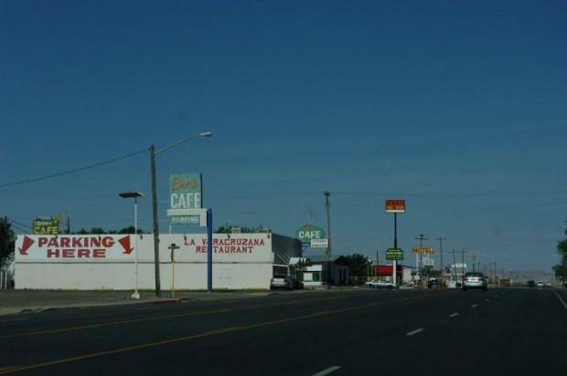 The streetscape.